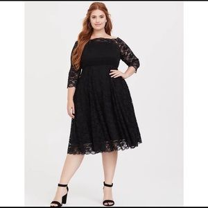 Torrid Black Lace Off The Shoulder Dress 16